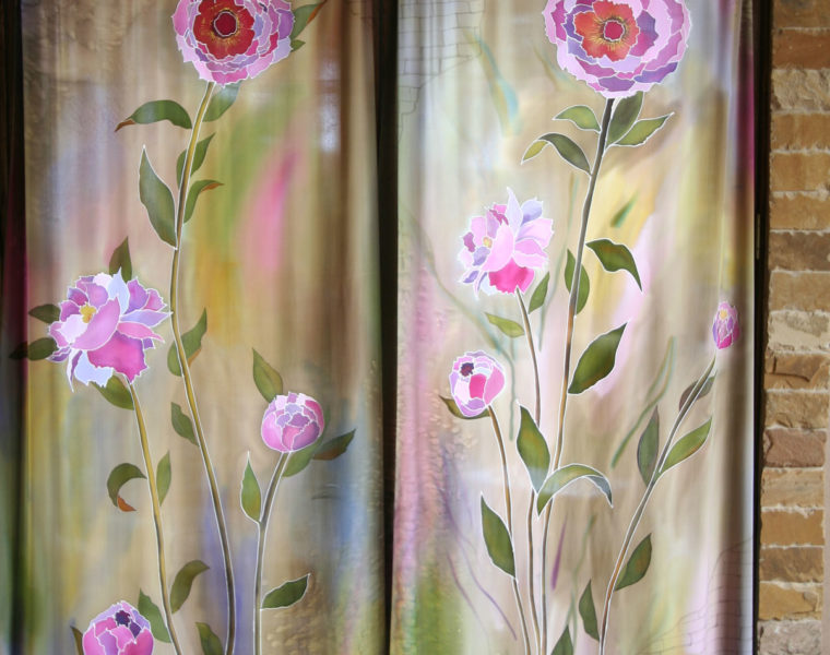 Curtains with Peonies