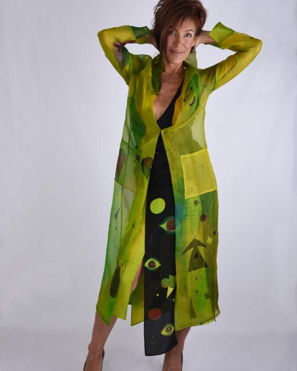 Organza Coat Green Miro