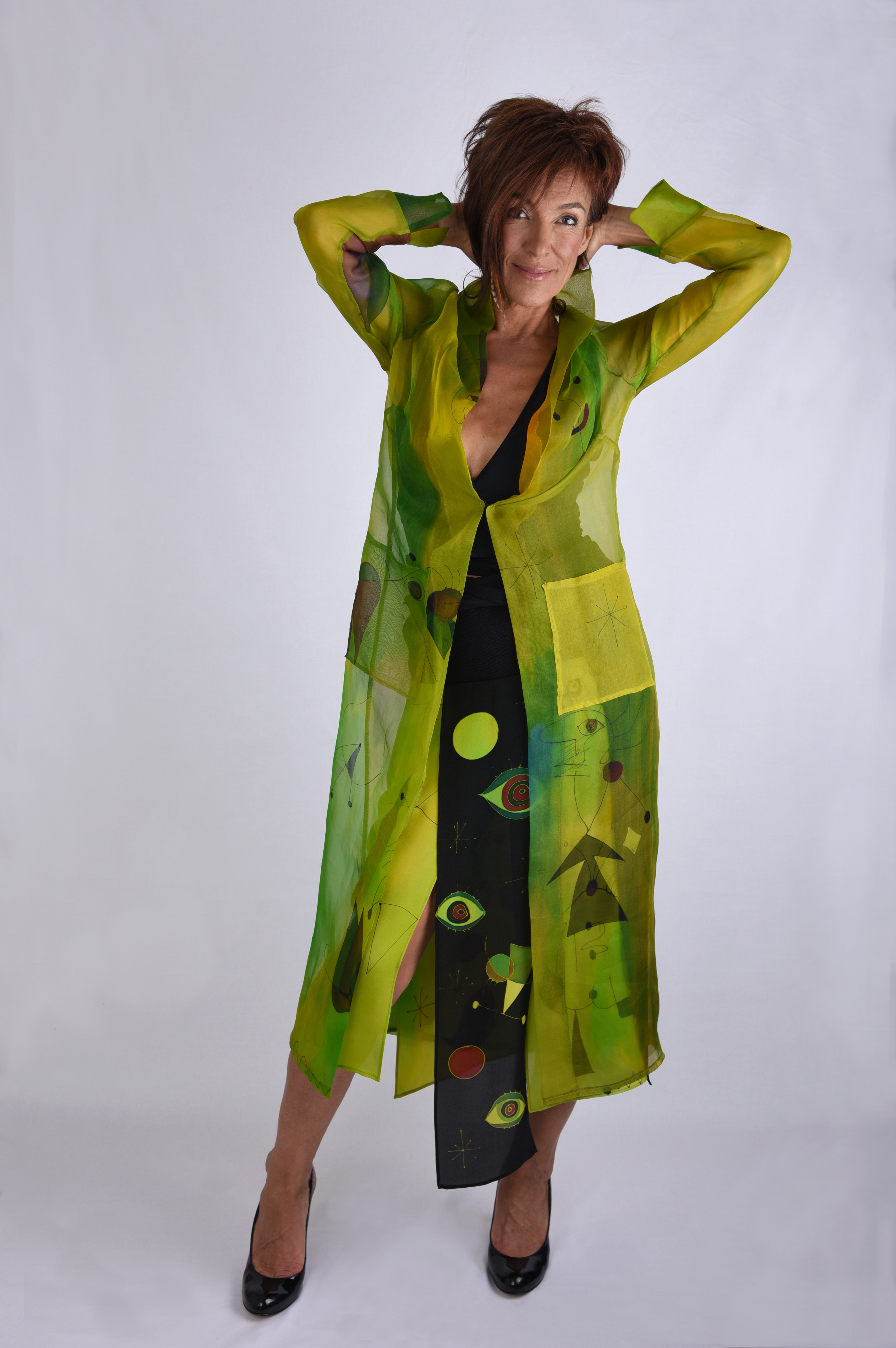 Organza Coat Green Miro​​