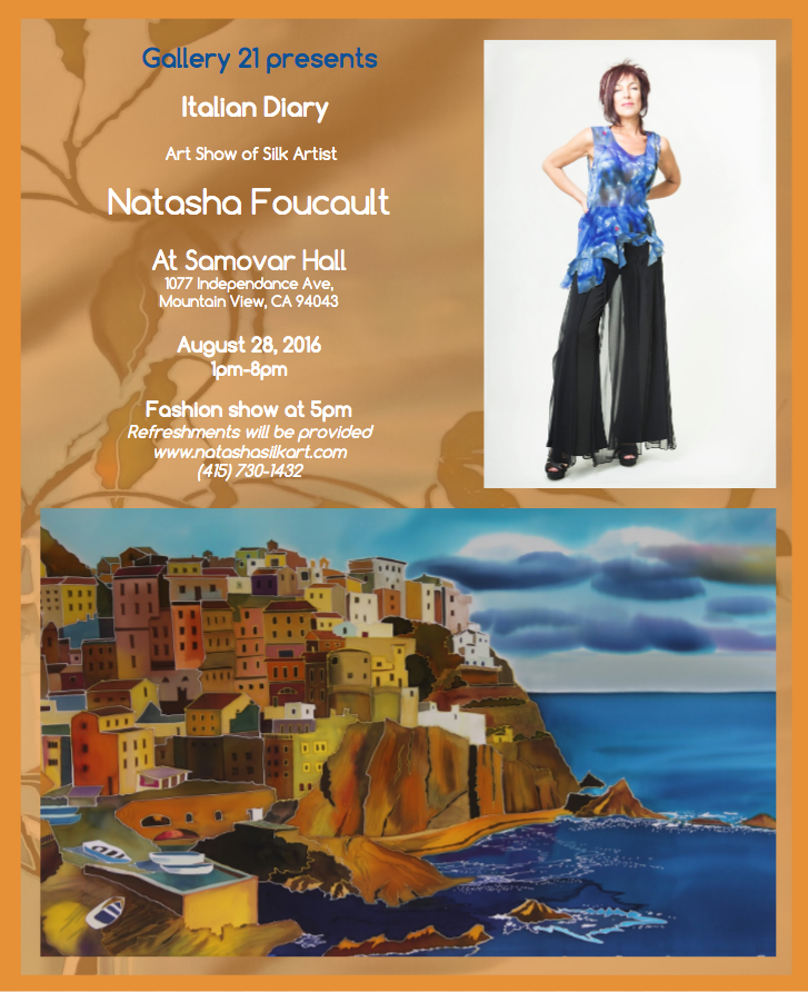 Gallery 21 Presents: Italian Diary, Art Show of Natasha Foucault