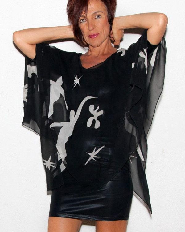 Poncho Matisse Decoupage