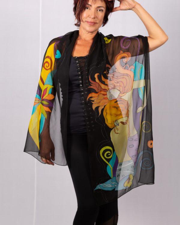 Silk chiffon scarf Homage to Klimt