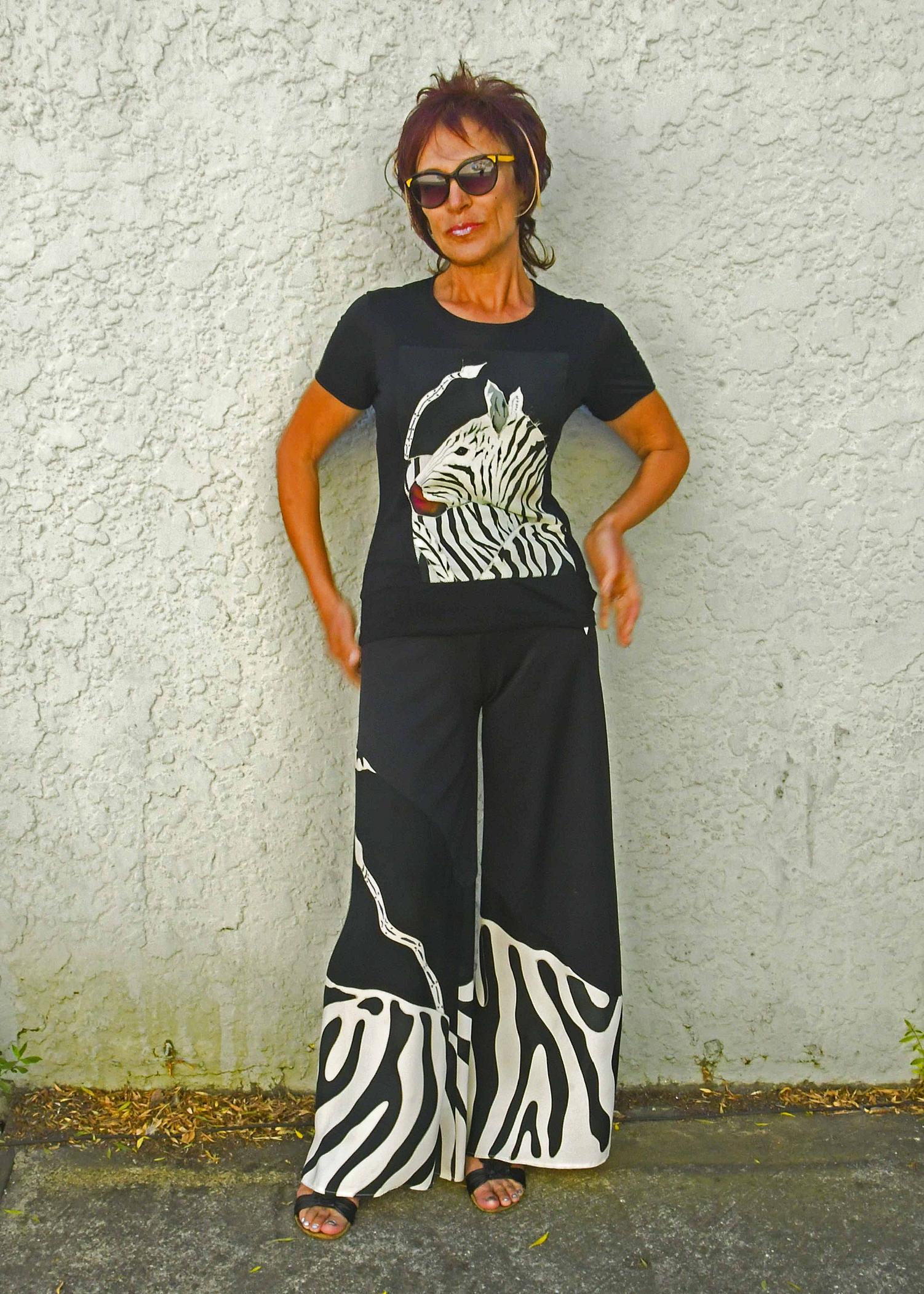 Zebra T-shirt and pants